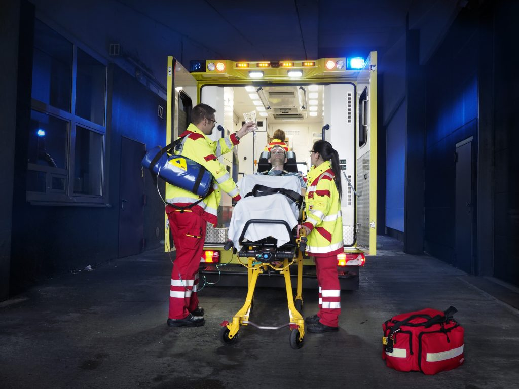 ASB Rettungswagen im Einsatz